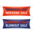 memorial day weekend and blowout sale banners vector image vector image