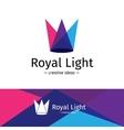 minimalistic three color light rays vector image