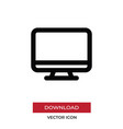 monitor icon in modern style for web site and vector image vector image