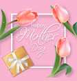mother day card with tulips bouquet vector image vector image