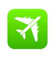 passenger airliner icon digital green vector image