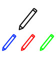 pen glyph icon edit icon vector image
