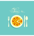 Pie is on a plate vector image