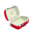 red open suitcase for travel vector image