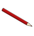 red pencil doodle style vector image vector image