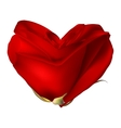Red valentine heart made with rose flower EPS 10 vector image vector image