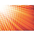 Red yellow rays light 3D mosaic EPS 8 vector image vector image