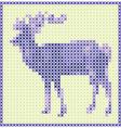 reindeer embroidery vector image vector image