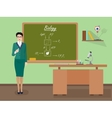 School Biology female teacher in audience class vector image vector image