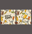 seamless pattern beer tap class can bottle