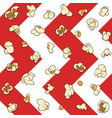 seamless pattern with popcorn vector image