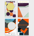 set of corporate brochures flyers and design vector image vector image