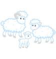sheep lamb and ram vector image vector image