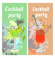 summer cocktail party vertical banners vector image vector image