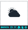 Sunny icon flat vector image vector image
