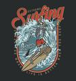 surfing club vintage colorful design vector image vector image