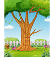 Tree in the garden vector image vector image