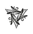 triangular abstract organic pattern motif vector image