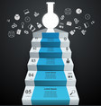 tube experiments abstract infographics stair vector image