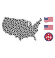 united states map stylization of human footprint vector image
