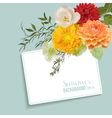 Vintage Floral Card with a Tag for your Text vector image vector image