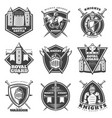 vintage medieval labels set vector image vector image