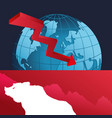 wall street bear world finance down vector image vector image