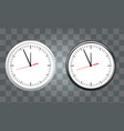 white and black wall office clock icon set vector image vector image