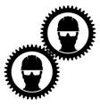 worker icon in helmet vector image