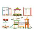 kids playground flat design icons vector image