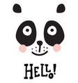hello panda vector image