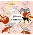 Background with savanna animal vector image