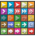 25 arrow icon set vector image vector image
