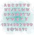 Abstract modern alphabet vector image vector image