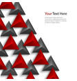 Abstract red and gray pyramids on white background vector image