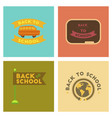 assembly flat icons back to school pencil globe vector image vector image