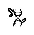biology black icon sign on isolated vector image vector image