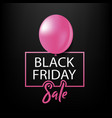 black friday sale black tag with bubble vector image