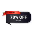 black friday sticker or discount badge holiday vector image vector image