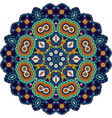 blue and green mandala vector image vector image
