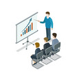 business presentation isometric 3d icon vector image vector image