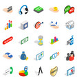 business woman icons set isometric style vector image vector image