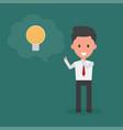 businessman thinking idea vector image