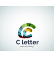 C letter concept logo template vector image vector image