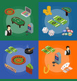 casino and gambling game banner card set isometric vector image