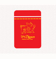 chinese new year money packets best luck ahead vector image vector image