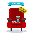 cinema red armchair vector image vector image