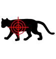 Cougar crosslines vector image