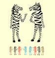 Couple Zebra vector image