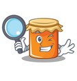 detective jam character cartoon style vector image vector image